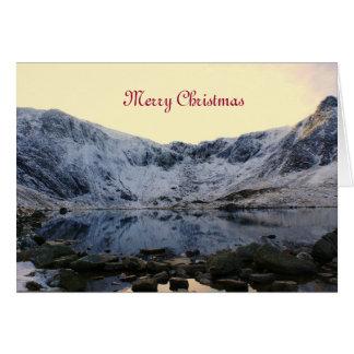 Snowdonia congelado felicitación