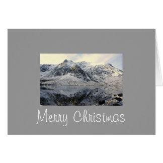 Snowdonia congelado tarjetón