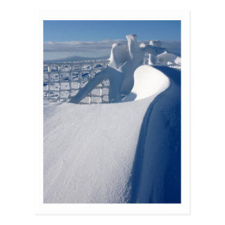 Snowdrift and Fence Postcard