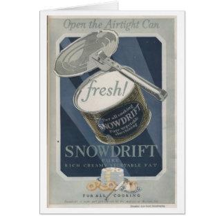 Snowdrift Vegetable Shortening Greeting Card