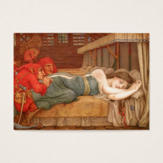 Snowdrop Asleep in Dwarfs Cottage Business Card