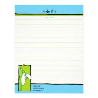 Snowdrop azulverde hacer la lista membrete personalizado