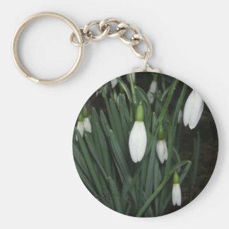 Snowdrop Basic Round Button Keychain