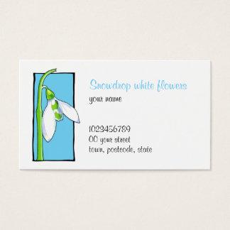 Snowdrop blue Florist Business Card