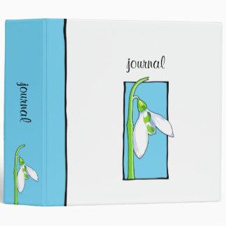 Snowdrop blue Garden Journal Binder