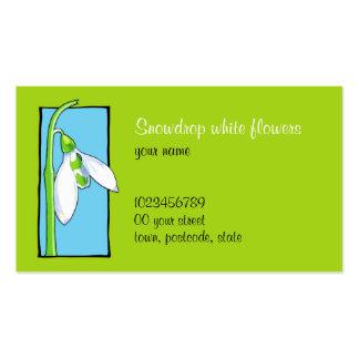 Snowdrop blue green Florist Business Card
