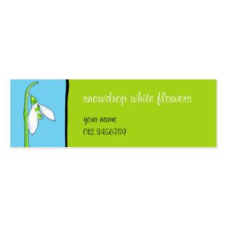 Snowdrop blue green small Business Card