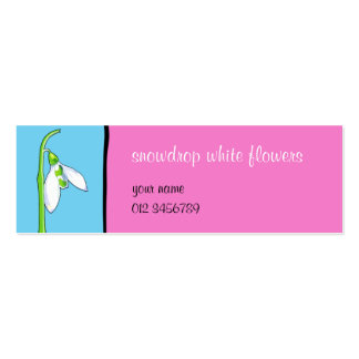 Snowdrop blue pink small Business Card