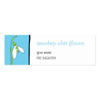 Snowdrop blue small Business Card