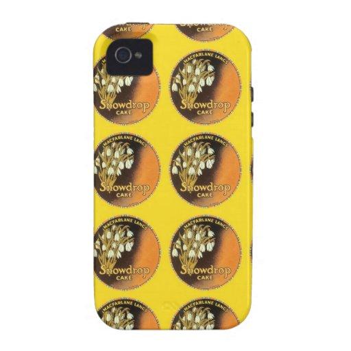 Snowdrop Cake Label Case-Mate iPhone 4 Cases