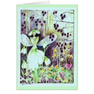 "Snowdrop elve ""Galanthus"" Card"