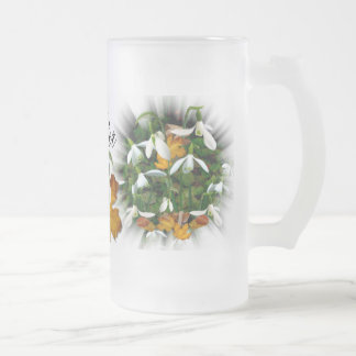 SNOWDROP  ~ Frosted Glass Mug