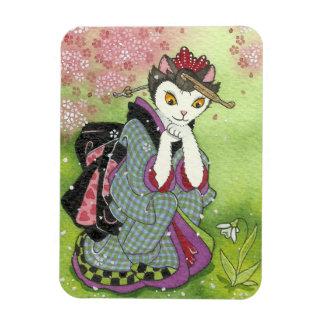 Snowdrop Geisha Kitty Magnet
