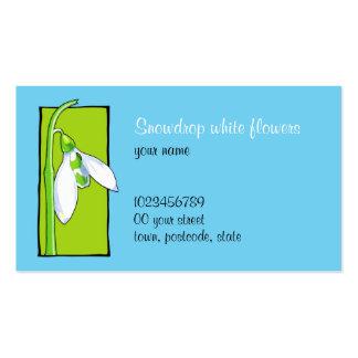 Snowdrop green blue Florist Business Card