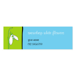 Snowdrop green blue small Business Card