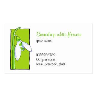 Snowdrop green Florist Business Card