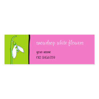 Snowdrop green pink small Business Card