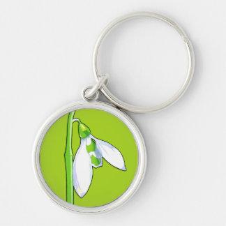 Snowdrop green Premium Keychain