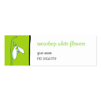 Snowdrop green small Business Card
