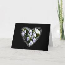 Snowdrop Heart Valentine Love Romance Card