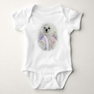 Snowdrop la camiseta infantil maltesa mameluco de bebé