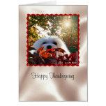 Snowdrop la tarjeta maltesa de la acción de gracia