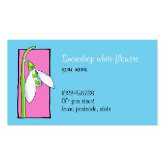 Snowdrop pink blue Florist Business Card