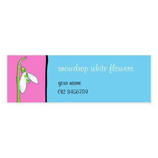 Snowdrop pink blue small Business Card