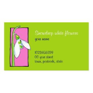 Snowdrop pink green Florist Business Card