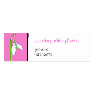 Snowdrop pink small Business Card