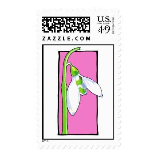 Snowdrop pink Stamp