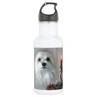 Snowdrop the Maltese 18oz Water Bottle