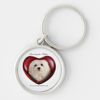 Snowdrop the Maltese Keychain