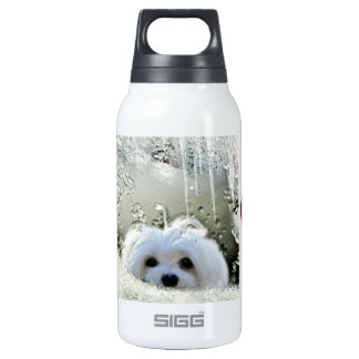 Snowdrop the Maltese 10 Oz Insulated SIGG Thermos Water Bottle