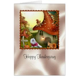 Snowdrop the Maltese Thanksgiving Card