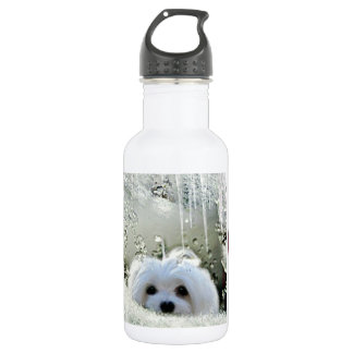 Snowdrop the Maltese Water Bottle