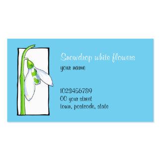 Snowdrop white blue Florist Business Card