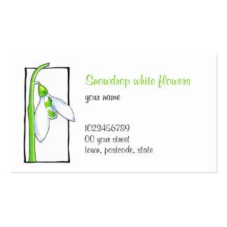 Snowdrop white Florist Business Card