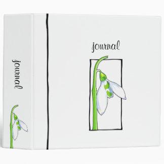 Snowdrop white Garden Journal Binder