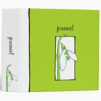 Snowdrop white green Garden Journal Binder