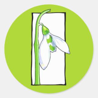 Snowdrop white green Sticker