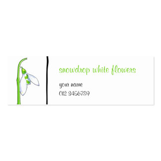 Snowdrop white small Business Card