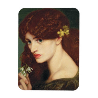 Snowdrops, 1873 (oil on canvas) rectangular photo magnet