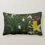 Snowdrops and Daffodil Early Spring Flowers Lumbar Pillow