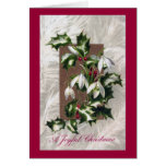 Snowdrops and Holly Vintage Christmas Greeting Cards