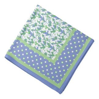 Royal Blue Polka Dot Border Birth Month Flower Acc...