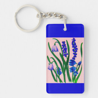 snowdrops and scilla Double-Sided rectangular acrylic keychain