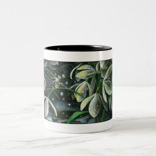 Snowdrops at Night Two-Tone Coffee Mug
