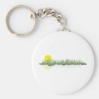 snowdrops basic round button keychain