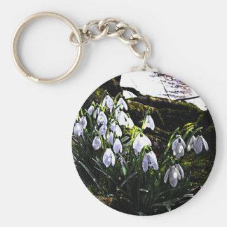 Snowdrops by River Hafren Keychain